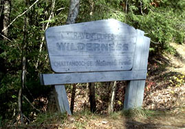 The Raven Cliffs Wilderness Sign
